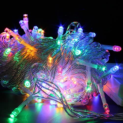 Festival Holiday Hanging Tree Lights for Indoor or Outdoor String Lights 100 Bulbs 33ft String Lights. Perfect for Bedroom, Patio, Parties Colorful Light