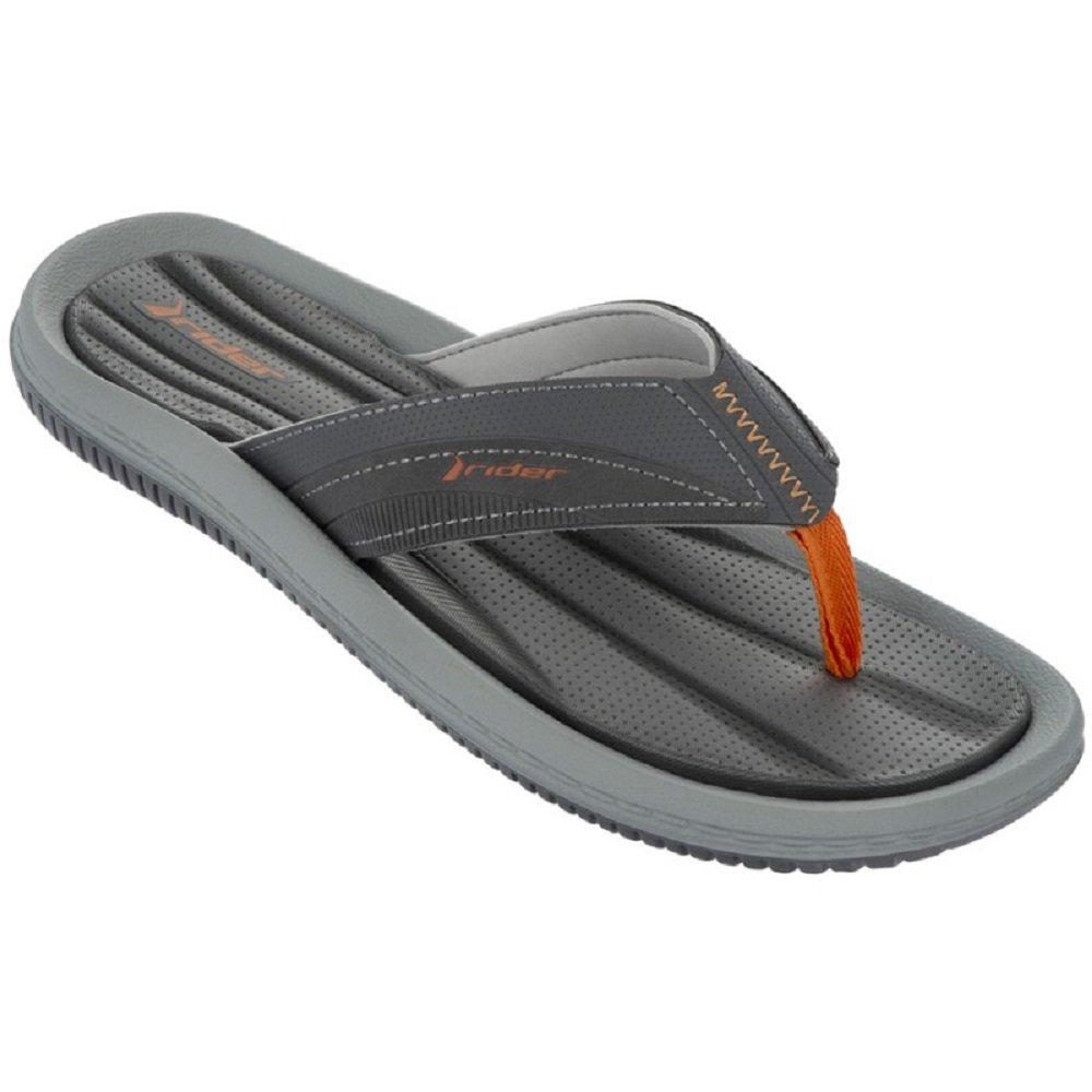 Rider - Sandalias de goma para hombre 41 EU Grey/Dark Grey/Orange (22281)
