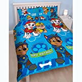 Paw Patrol 'Spy' Double Duvet Set - Repeat Print Design, Multi-Colour