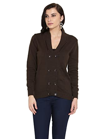 Remanika Ladies Cotton Dark Brown Sweater: Amazon.in: Clothing ...