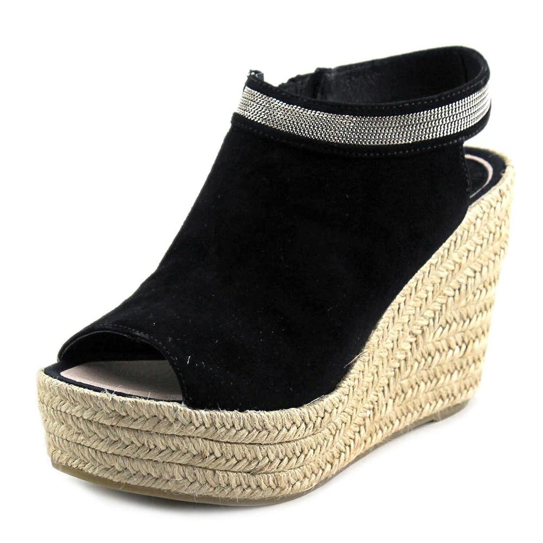 Delman Aria Women Open Toe Suede Wedge Sandal