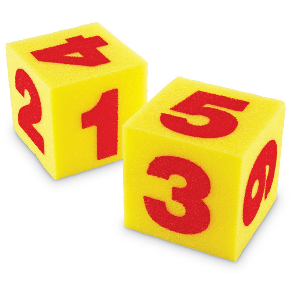 Learning Resources Giant Soft Numeral Cubes (Set of 2) LER0412