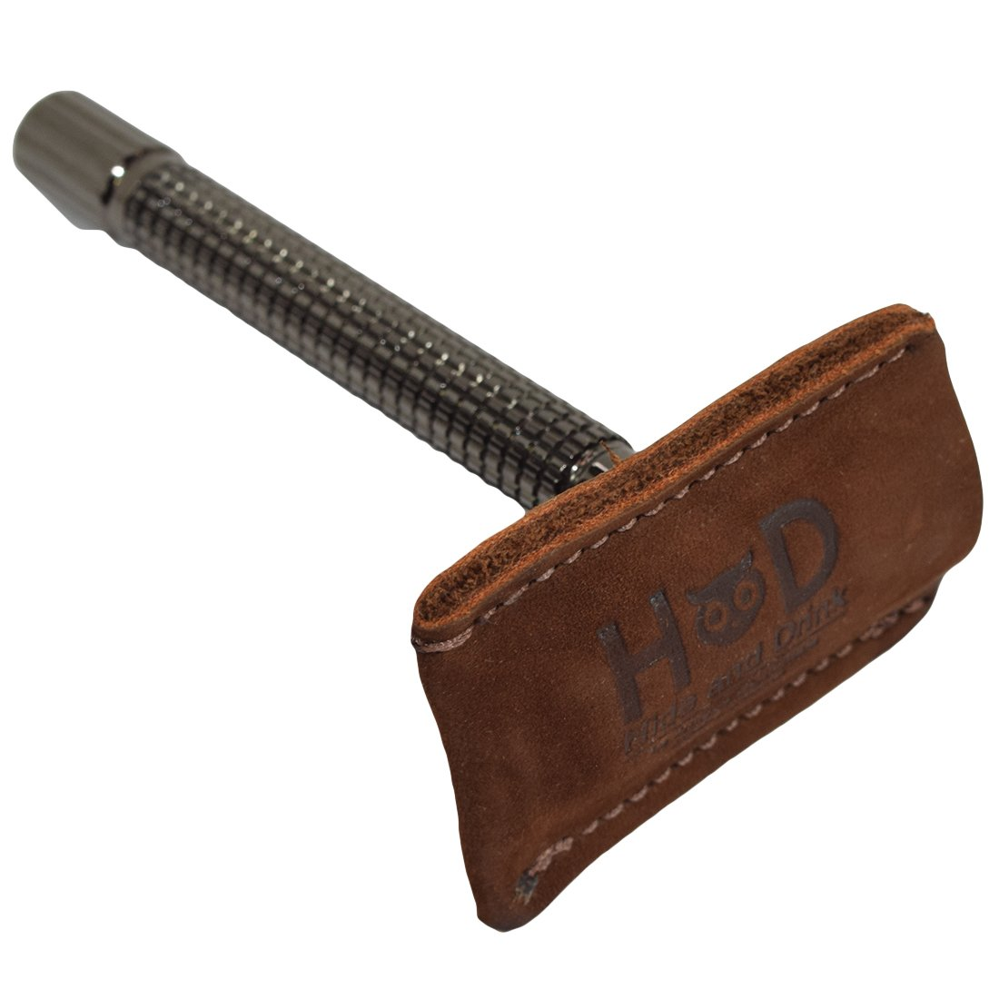 Hide & Drink Leather Double Edge Safety Razor Head Protective Sheath/Shaving Travel Cover Handmade Swayze Suede