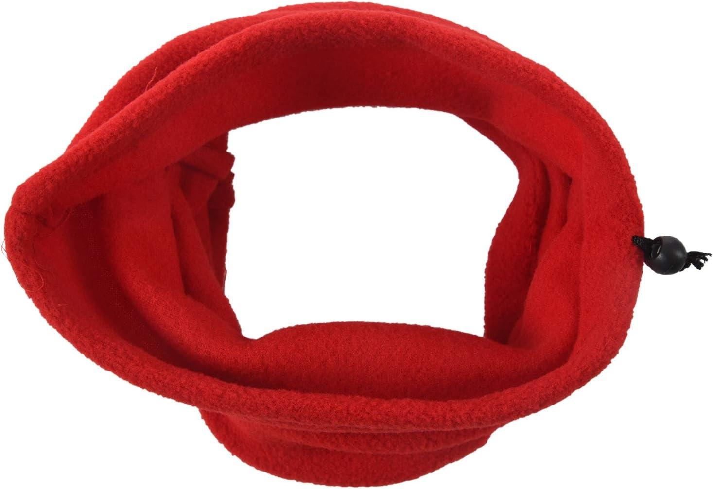 Rossa Bestlymood Sciarpa Termica da Uomo Unisex in Pile con Scaldacollo Sciarpa da Sci