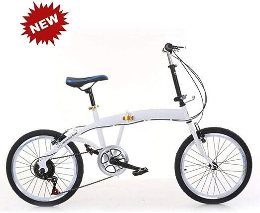 Cvghnfk Bicicleta Plegable 20 Pulgadas Sistema de Freno Trasera ...