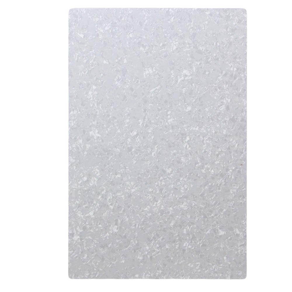 BQLZR 3Ply Blank White Pearloid 29cmX43cm Guitar Scratch Plate Sheets 10101085