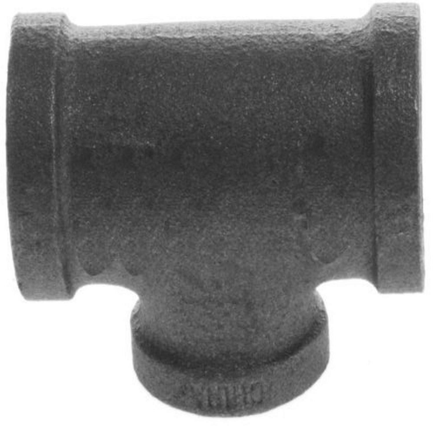 Plumbers Choice 93766 1-1//2-Inch x 1-Inch x 1//2-Inch Black Fitting with Reducing Tee 5-Pack