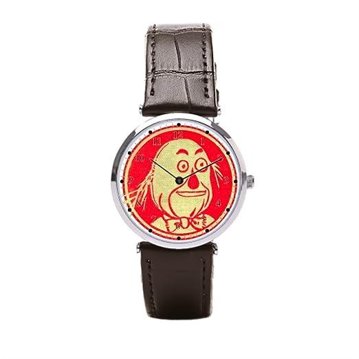 Ser un hombre correa de piel Para Hombre Relojes Vintage de el mago de Oz w w Denslow espantapájaros negro cuero Mens Reloj: Amazon.es: Relojes