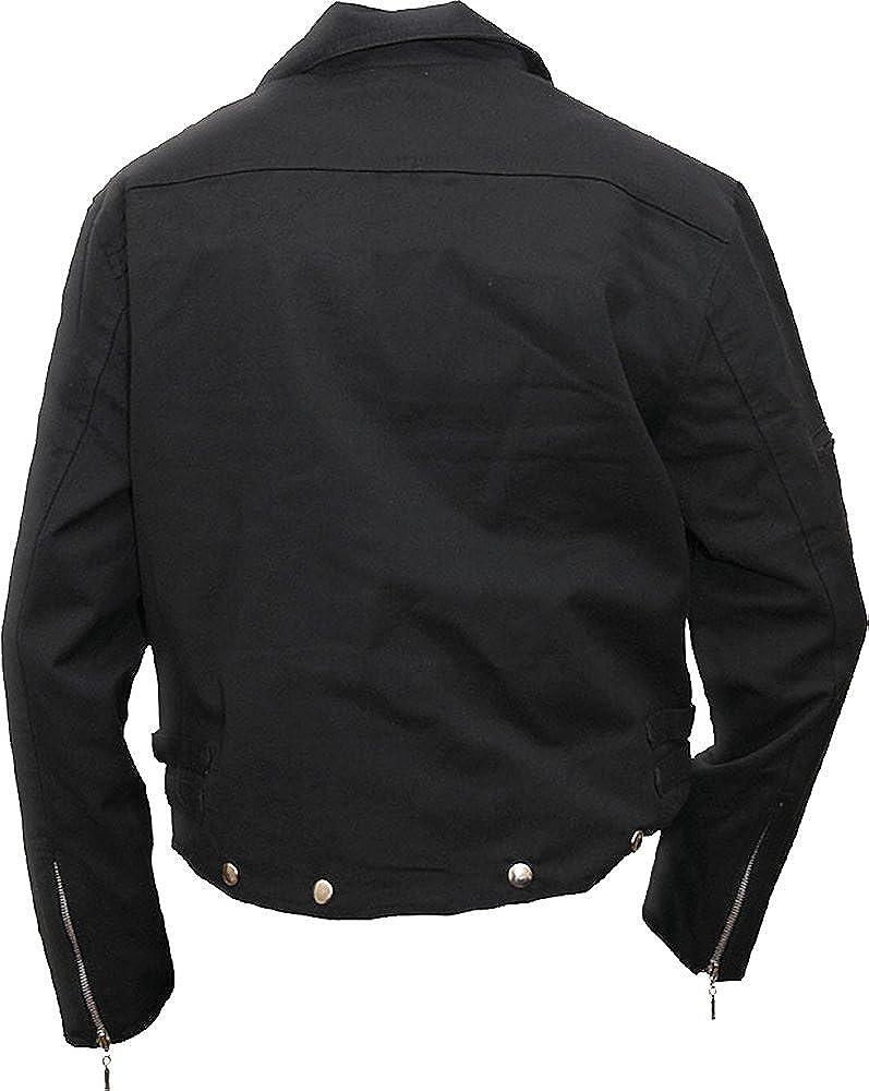Spiral Metal Streetwear Black Sleeveless Stone Washed Denim Vest Shirt Gothic,