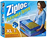 Ziploc 1616457 XL Flex Flexible Tote with Handle, Large, Clear
