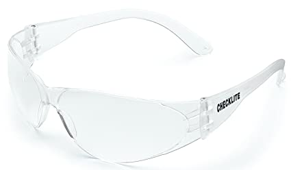 638b0e8b25c44 MCR Safety CL010 Checklite Safety Glasses with Clear Frame and Clear ...