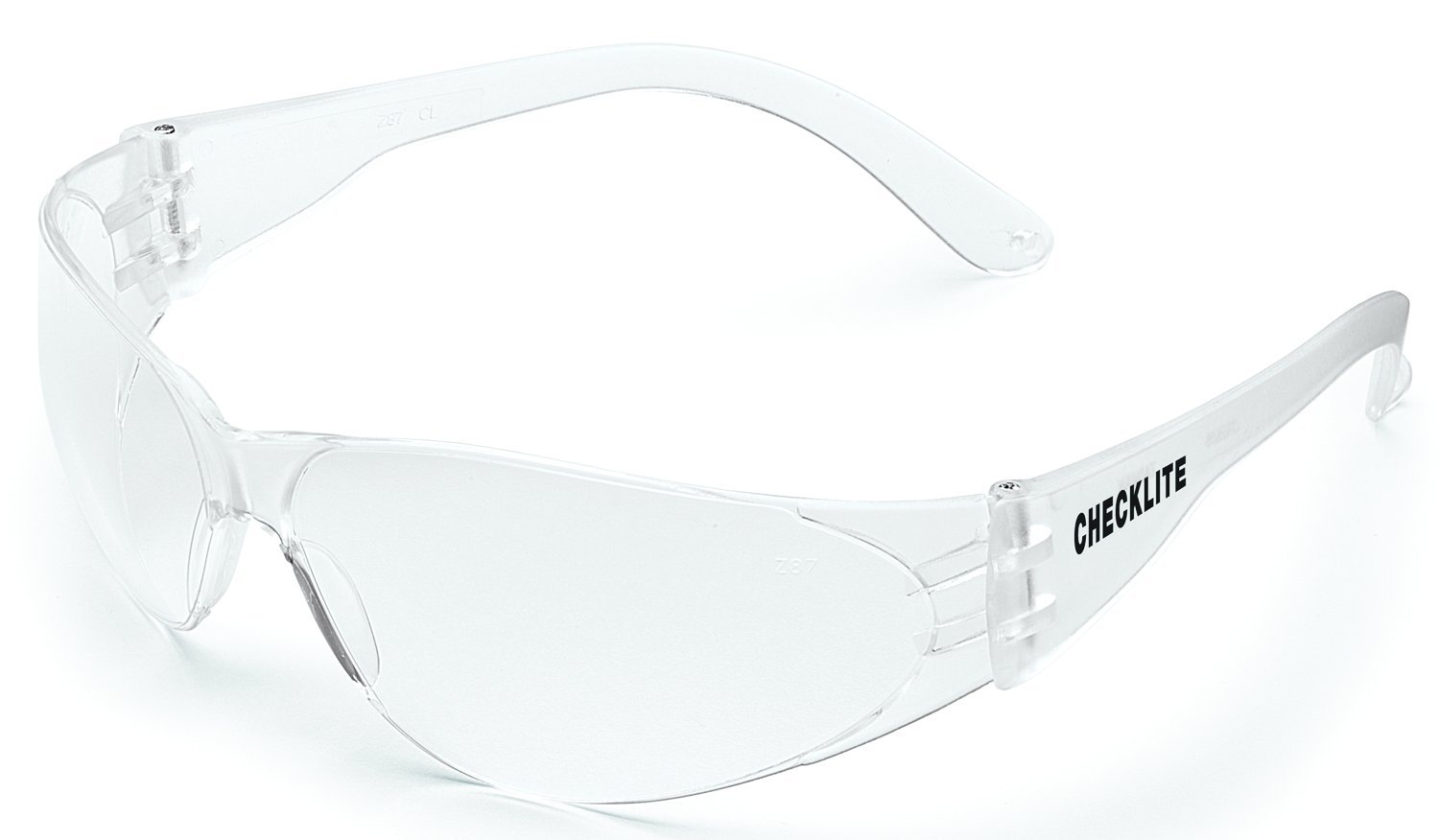MCR Safety CL010 Checklite Safety Glasses with Clear Frame and Clear Lens, 1-Pair