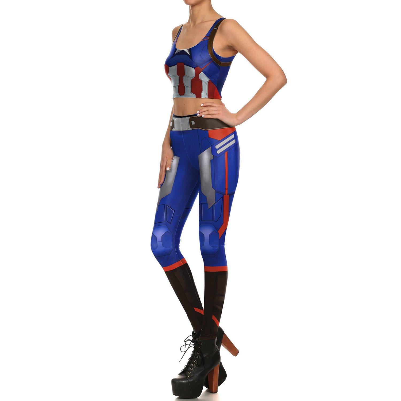 MY Nuevo Diseño de Las Mujeres leggings 3D Impreso Azul ...