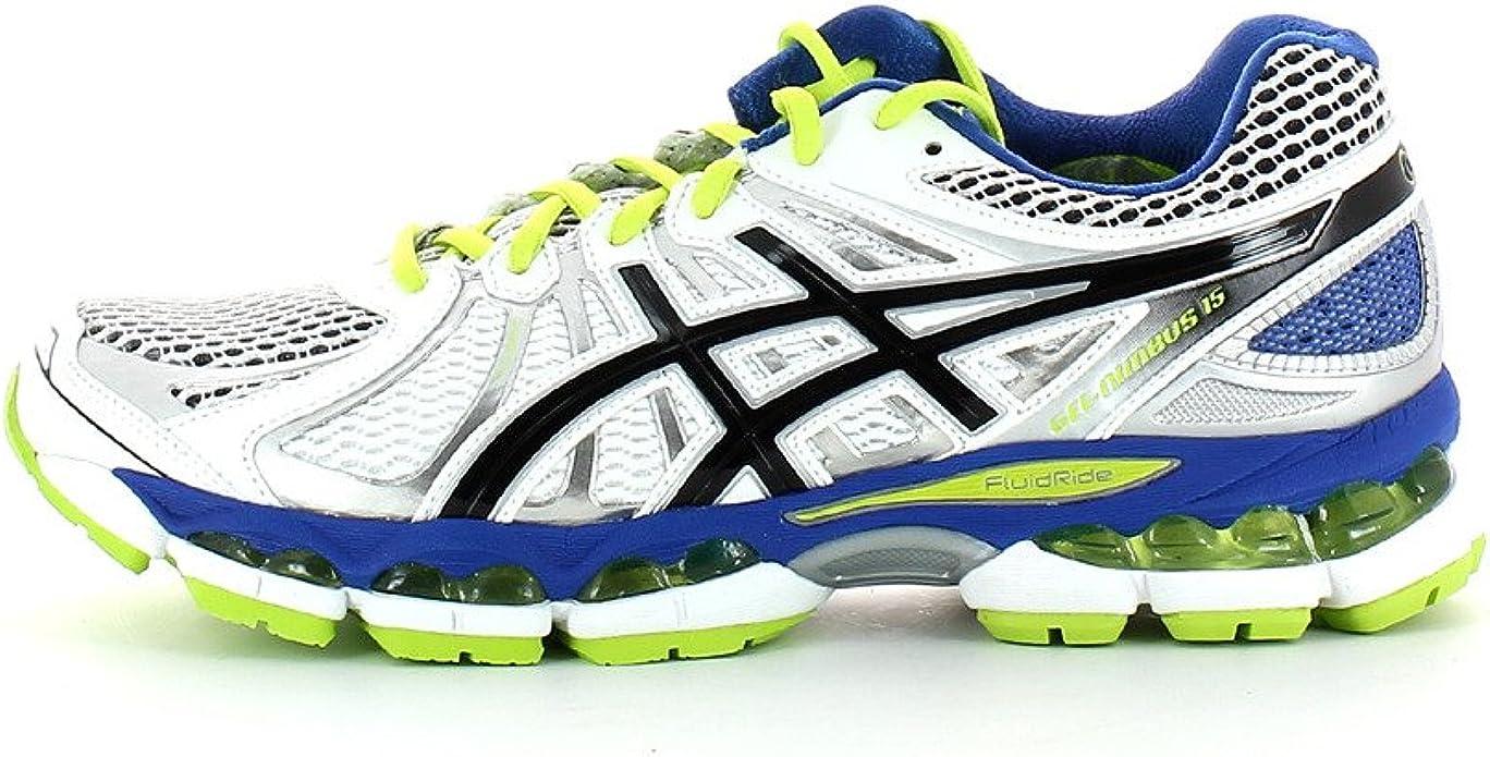 Asics Gel Nimbus 15 - Zapatillas de Running para Hombre, Color Blanco/Negro/Verde, Talla 41.5: Amazon.es: Zapatos y complementos