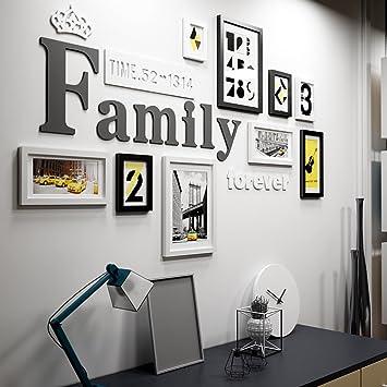 9 Multi Bilderrahmen Set Kiefer Holz Kreativ Portfolio Moderne Wohnzimmer  Wand Foto Bild Wandrahmen / Mit
