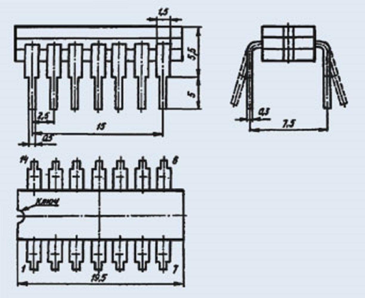 Microchip USSR  Lot of 4 pcs KM155LA4 = 7410PC  IC