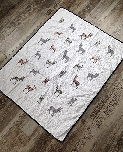Made in USA, Ready to ship, Homemade woodland deer quilt for baby boy by Createdbymammy