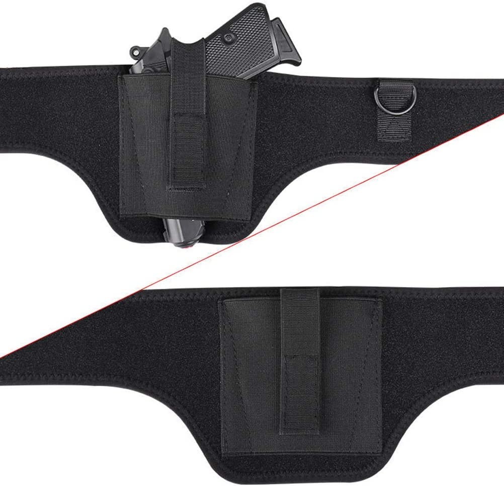DUOCACL Banda de Cintura con Funda de Pistola Oculta en la axila para Pistola Accesorios de Equipo de Defensa al Aire Libre para Mano Derecha