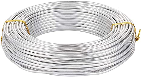 Silver Pandahall 82 Feet//500g Aluminum Wire Flexible 3mm//9gauge Metal Artistic Beading Wire for Floral Jewelry Making