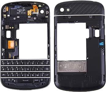 Repuestos para Smartphone 3 en 1 para BlackBerry Q10 (Teclado + Bisel del bastidor del medio + Panel de la lente de la cámara de la carcasa de la placa posterior) Cubierta