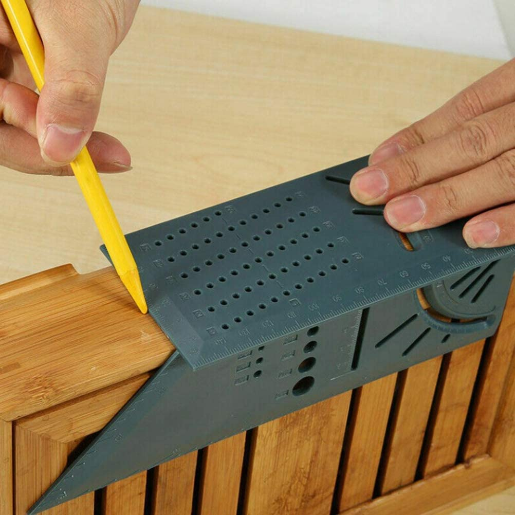 ULTECHNOVO Woodworking 3D mitre Angle Gauge Ruler Measuring Square Measure Tool