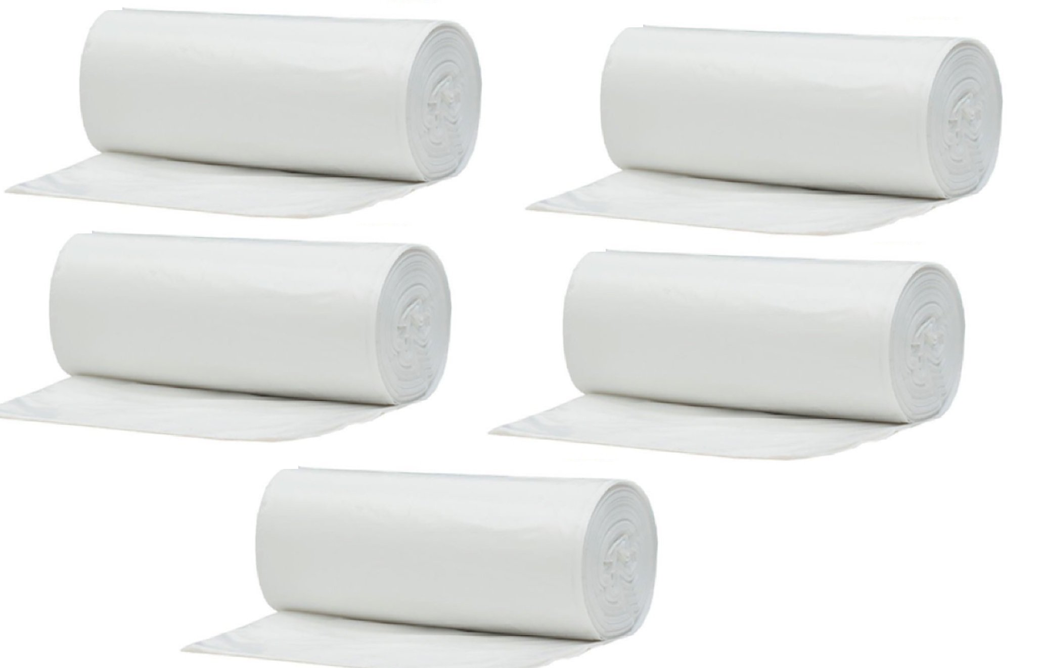 Muscle Bag - 10 Gallon Durable Wastebasket Trash Bags, 5 Rolls of 25 Each, Total of 125 Bags