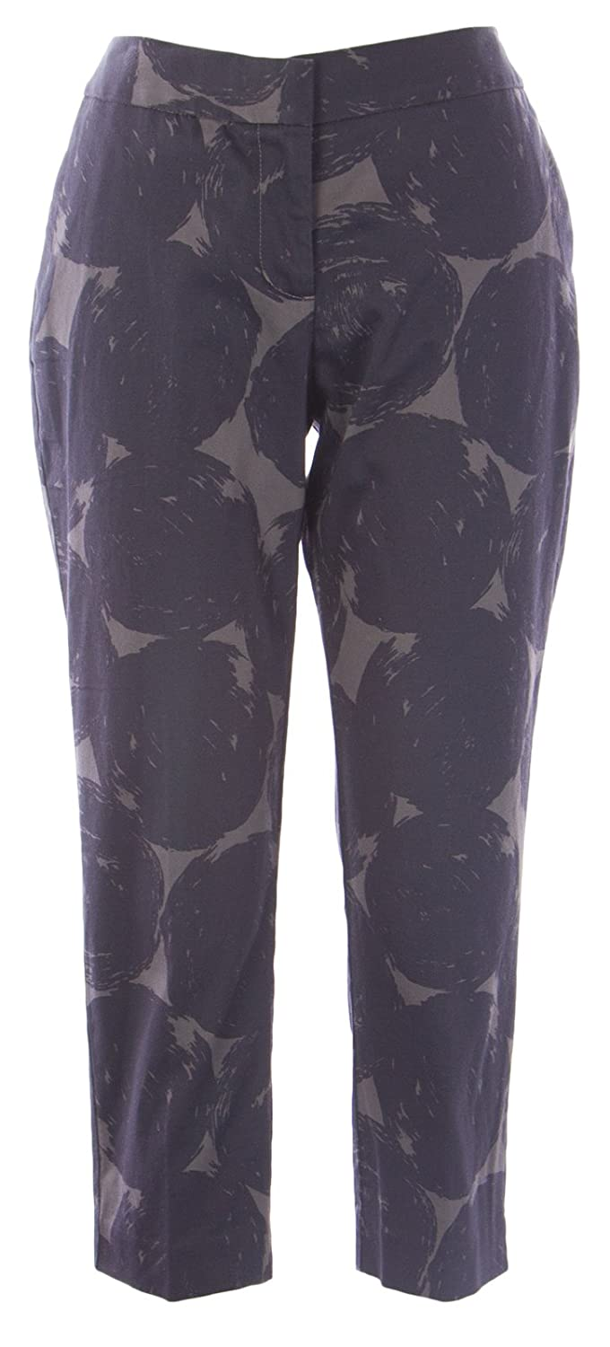 BODEN Women's Printed Bistro Crop Trousers US Sz 8P Black/Grey
