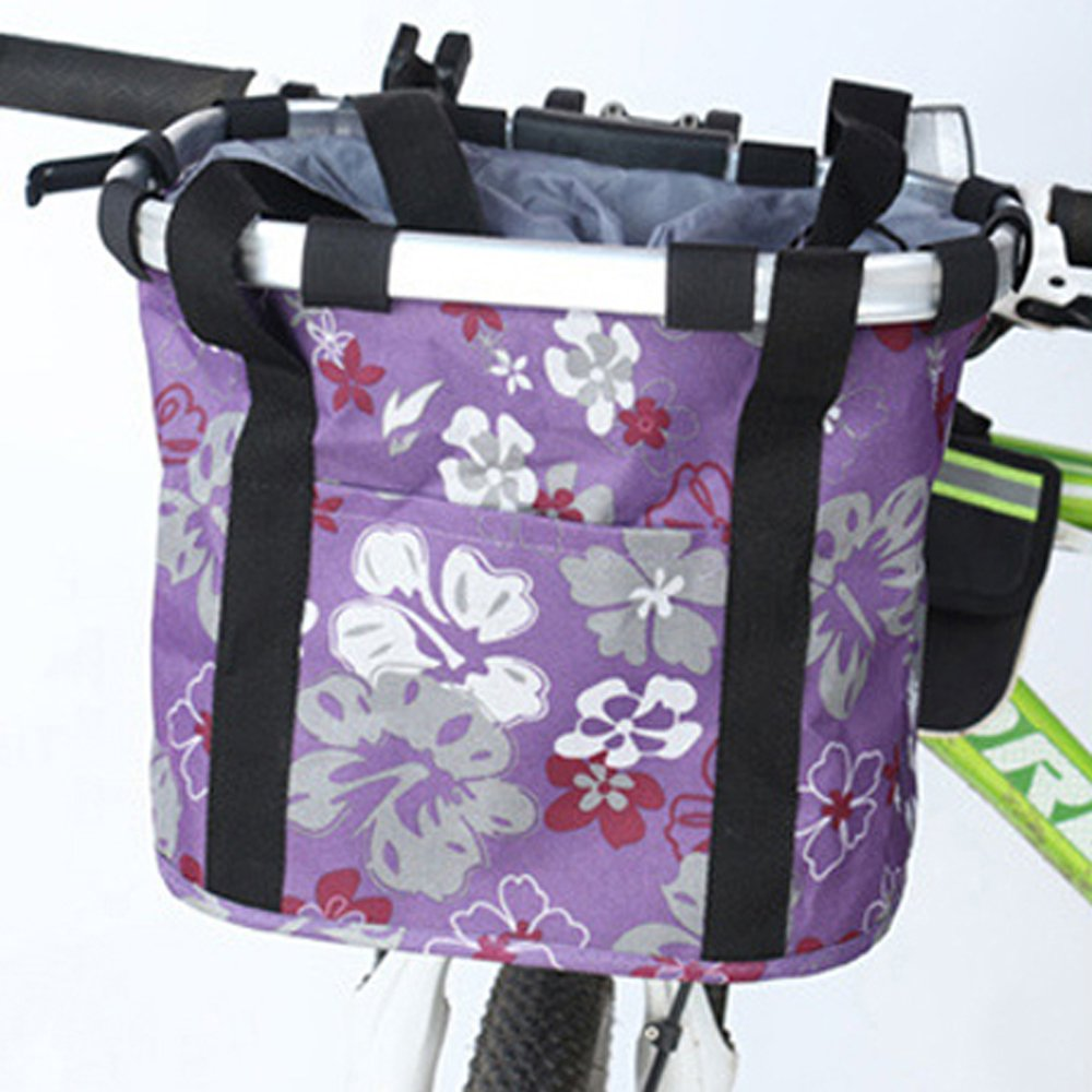ANZOME Folding Bicycle Bike Basket, Front Detachable Handlebar Cycling Pet Bike Basket Carrier Bag Pet, Handle Diameter 22.7-32mm(0.8in-1.2in) Maximum Loading Capacity 5kg(11lb) by ANZOME (Image #4)