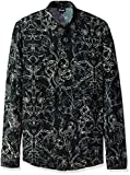Just Cavalli Men's Rock Grottesque Print Shirt, Black, 48