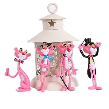 Angda Cake Toppers set Cartoon Pink Panther Centerpiece Girls ...