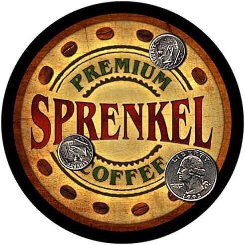Sprenkel Family Coffee Rubber Drink Coasters - Set of 4
