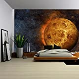 wall26 - Solar System - Venus. It is the Second Planet from the Sun. It is a Terrestrial Planet. after the Moon, - Removable Wall Mural | Self-adhesive Large Wallpaper - 66x96 inches