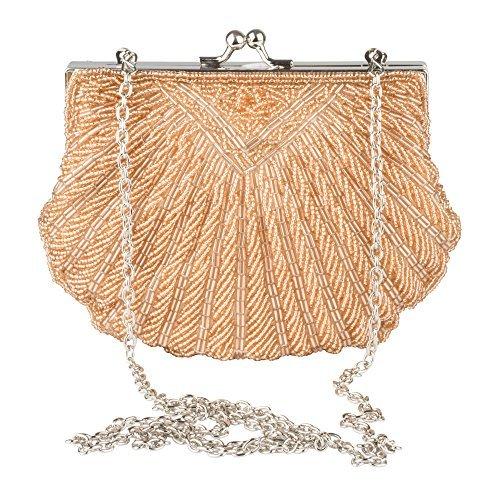 Regale La Handbag Beaded (La Regale Vintage Fully Beaded Shell Clutch)