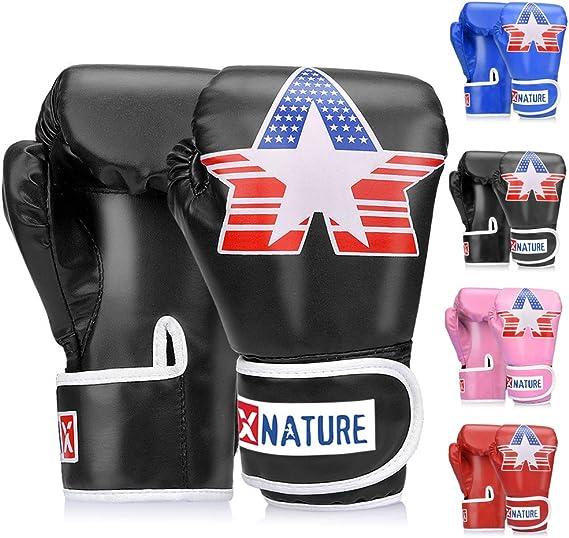 Junior Boxing Gloves Sparring Leather Punchbag Gloves Children//Kids 4,6,8 OZ