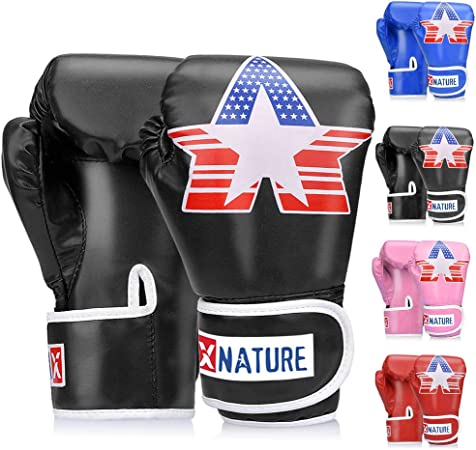 Kids Children Boxing Gloves MMA Punching Sparring Bag Mitts Kids 6oz Training R