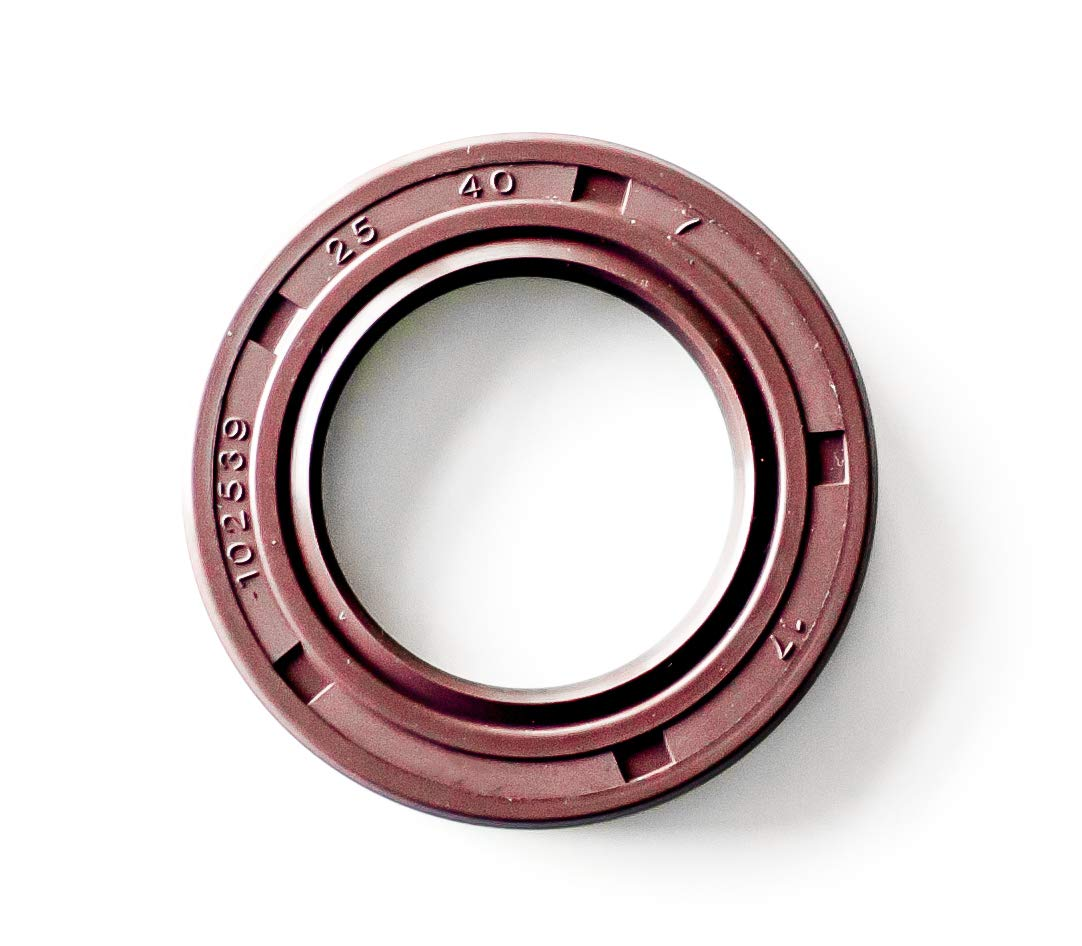 10 Pcs. - TC 25X40X7 Viton Oil and Grease Seal; Rubber Double Lip w/Garter Spring 25mmX40mmX7mm. EAI