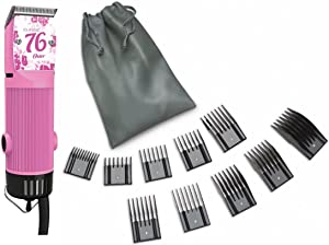 Combo New Oster Classic 76 Limited Edition Hair Clipper (Made in USA) (10 Piece Universal oster Comb Set)