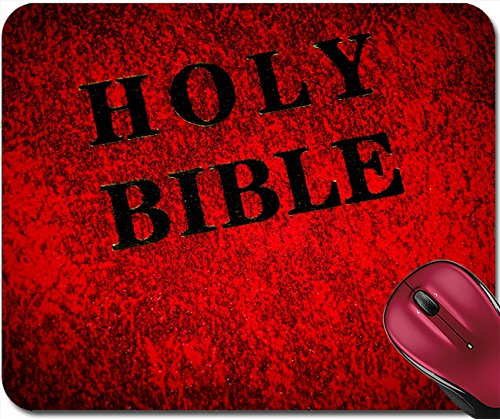 Liili Mousepad Red leather cover of the Bible book Photo 6725064 - Leather Bible Cover Custom