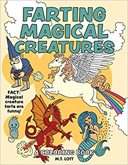 Book Farting Magical Creatures Coloring Book
