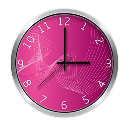 Amazon.com: Ysayc Wall Clock Red Artistic Individuality Creative ...
