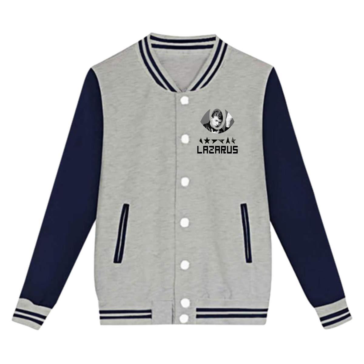 LIALUER Lazarus Last Release Parting Gift David Bowie Souvenir Teenager Baseball Jacket Uniform V Sweater Coat