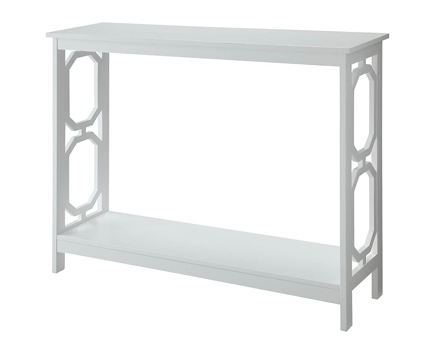 amazoncom convenience concepts omega console table white  - amazoncom convenience concepts omega console table white kitchen dining