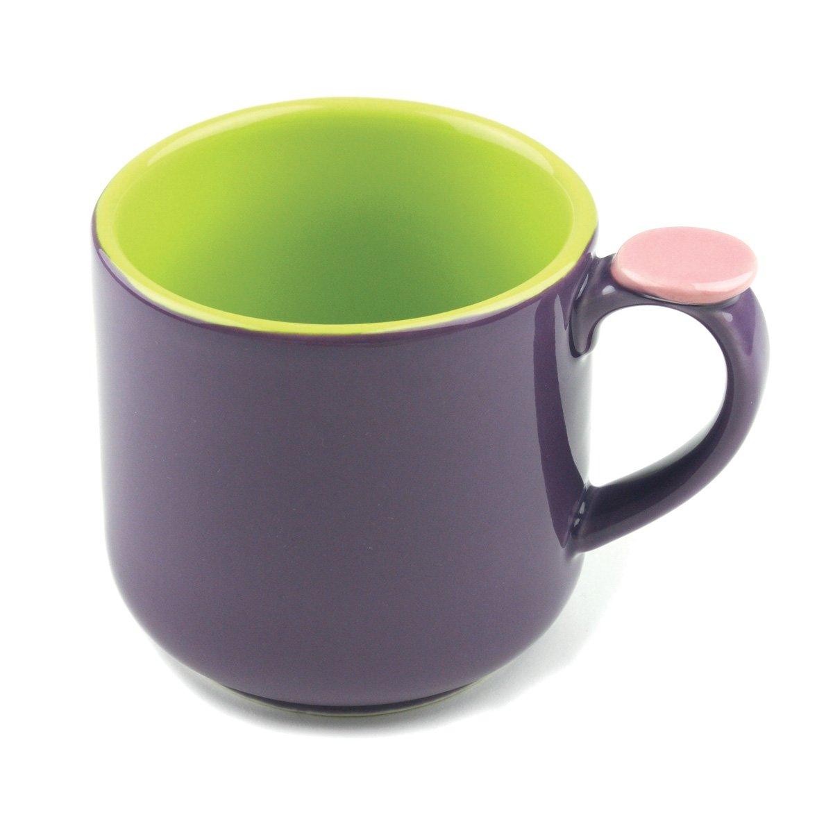 Purple//Green Omniware 1100467 Hemisphere Mug with Thumb Rest