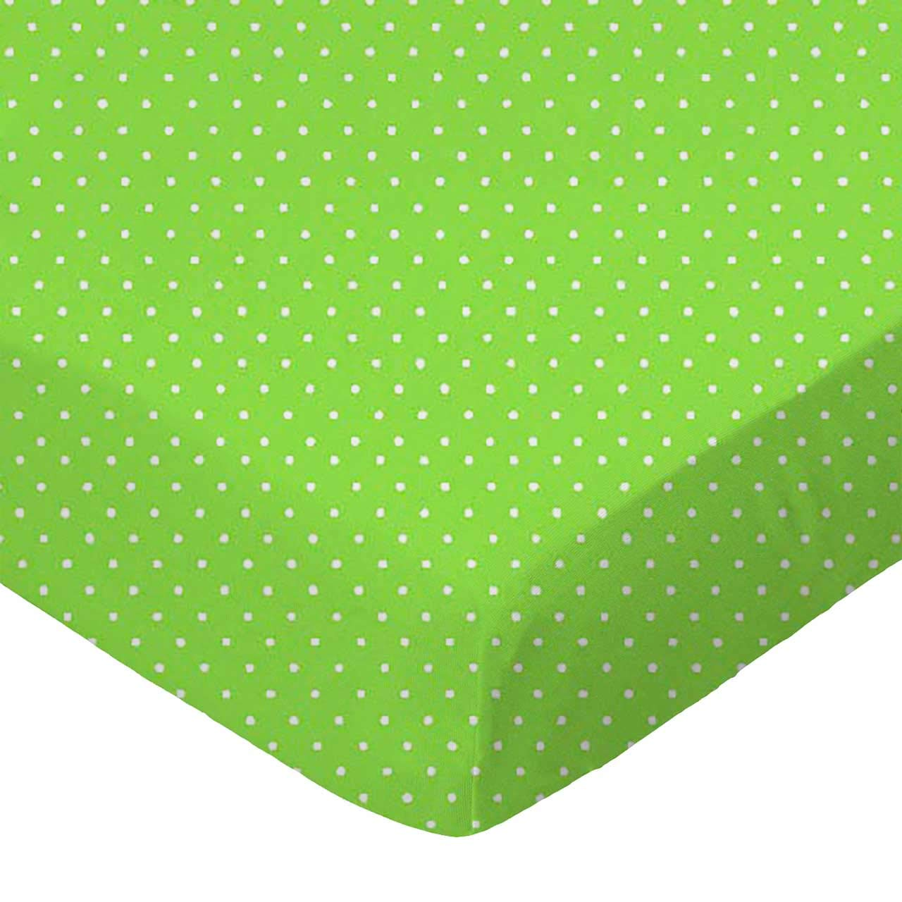 SheetWorld Fitted Bassinet Sheet - Primary Pindots Green Woven - Made In USA by sheetworld   B003R9V69A