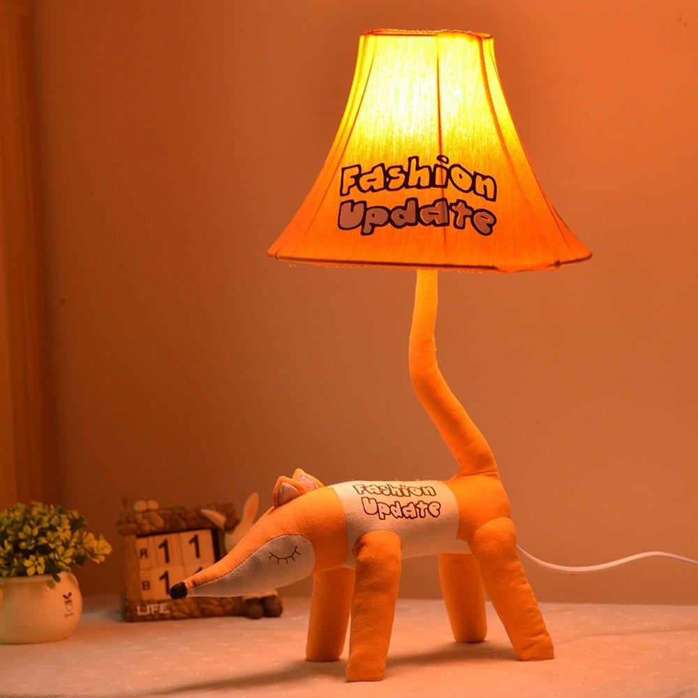 GJ- Moderno Simple Creativa Niños Lámpara De Mesa Ropa De Fox Dibujos Animados Fox De Personalidad Dormitorio Estudio Living Room Cama Lámpara De Mesa 21ba9a