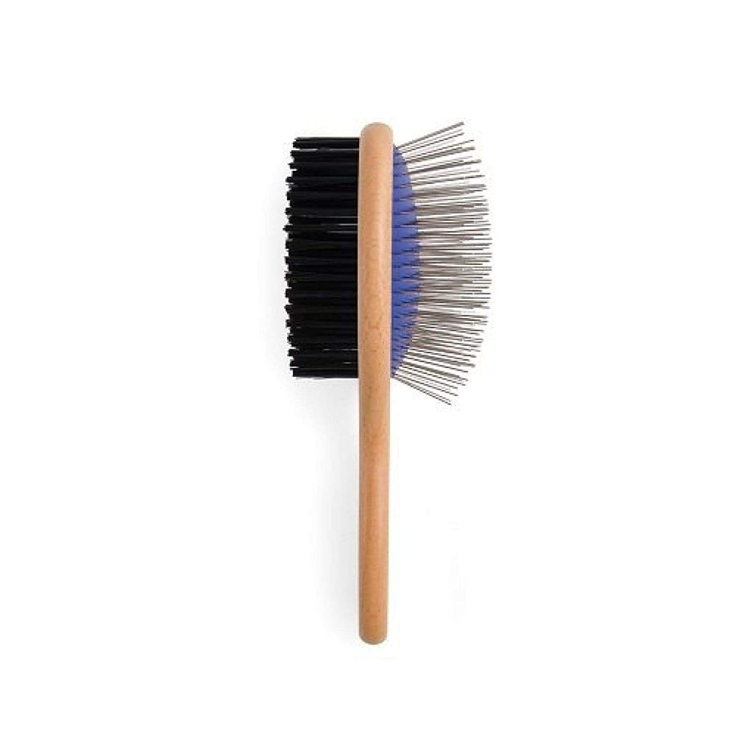Generic  dle Pet Double Sided n Handle Grooming Brush Wooden Handle Pe Wooden Handle Pet uble Si Daily Use Glossy Coat ossy Coat Large Easy Glossy Coat