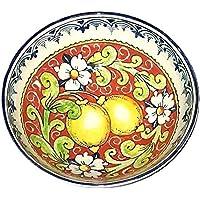 CERAMICHE D'ARTE PARRINI - Italian Ceramic Small Bowl Decorated Lemons Art Pottery Made in ITALY Tuscan