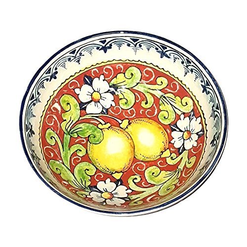 CERAMICHE D'ARTE PARRINI - Italian Ceramic Small Bowl Decorated Lemons Art Pottery Made in ITALY Tuscan - Italian Pottery