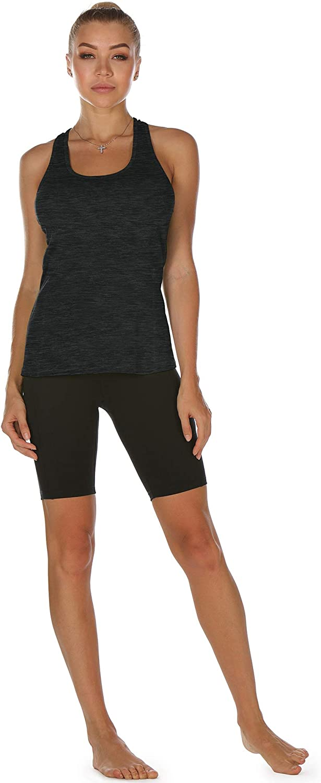 icyzone D/ébardeur de Sport Femme Dos Nageur Yoga Shirt sans Manches Running Fitness Tank Top Lot de 3