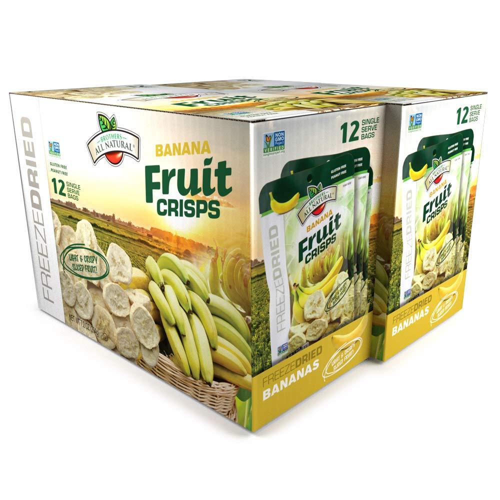Brothers-ALL-Natural Fruit Crisps, Banana, 0.59 oz (Pack of 24)